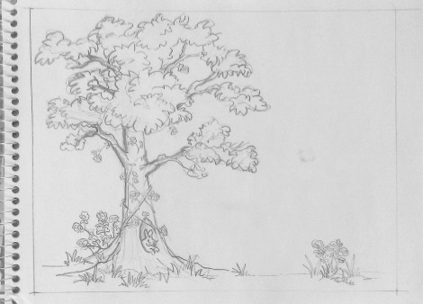 Tree Mural sketch
